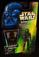 Star Wars POTF: TIE Fighter Pilot (Holo Sticker) Green Card - Action Figure
